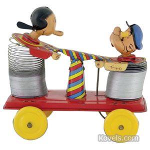 popeye_toy_popeye_olive_oyl_handcar_stretchy_pull_toy_linemar.jpg (300×300)