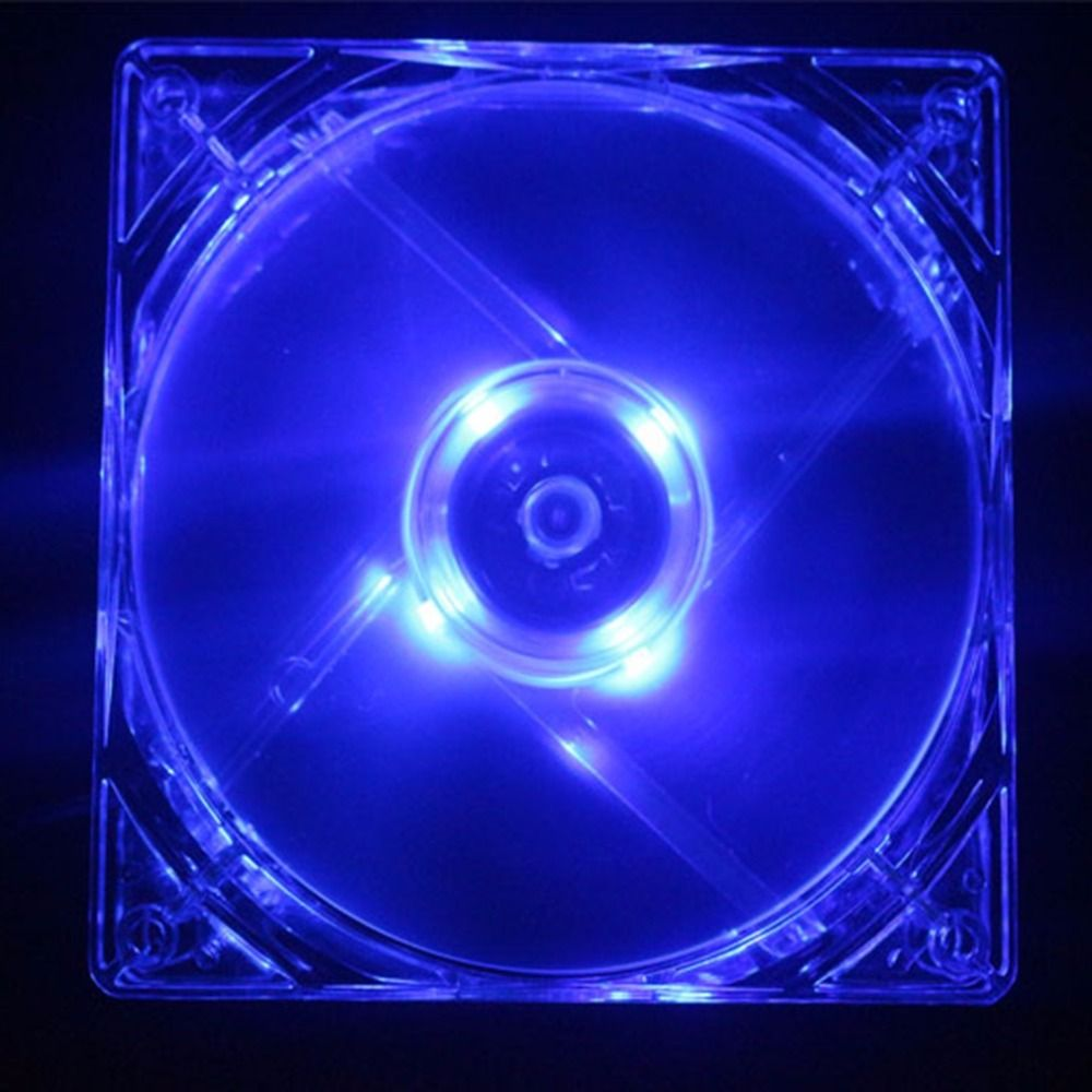 New 14cm 140mm Blue Light Led Silent Pc Computer Case Cooler Cooling Fan Mod Hot Sell Pc Computer Computer Fan Led Case