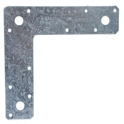 Simpson Strong Tie 6 In X 6 In 14 Gauge Galvanized L Strap 66l Home Depot Galvanized Frame Layout
