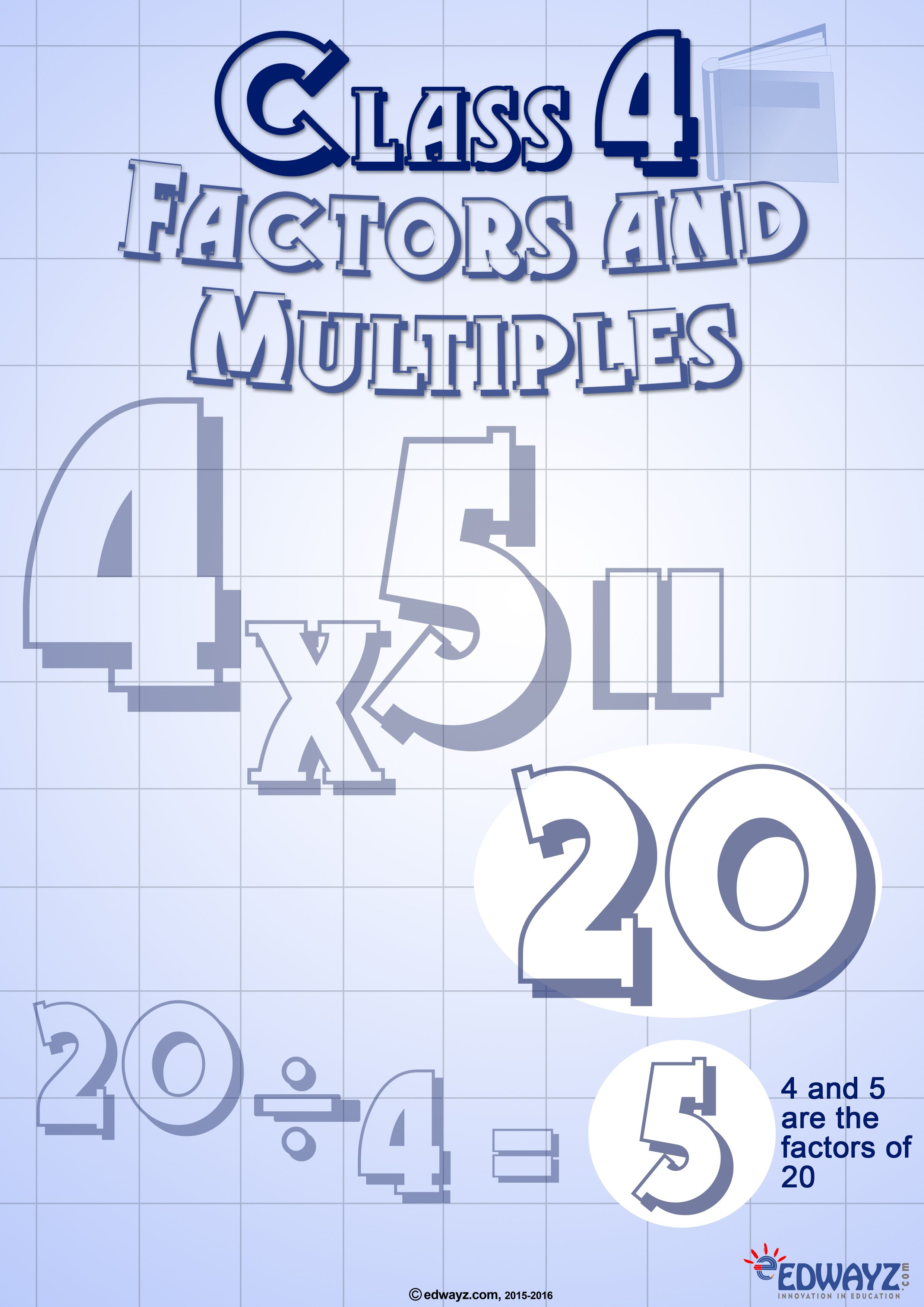 Worksheets Factors Amp Multiples Class 4