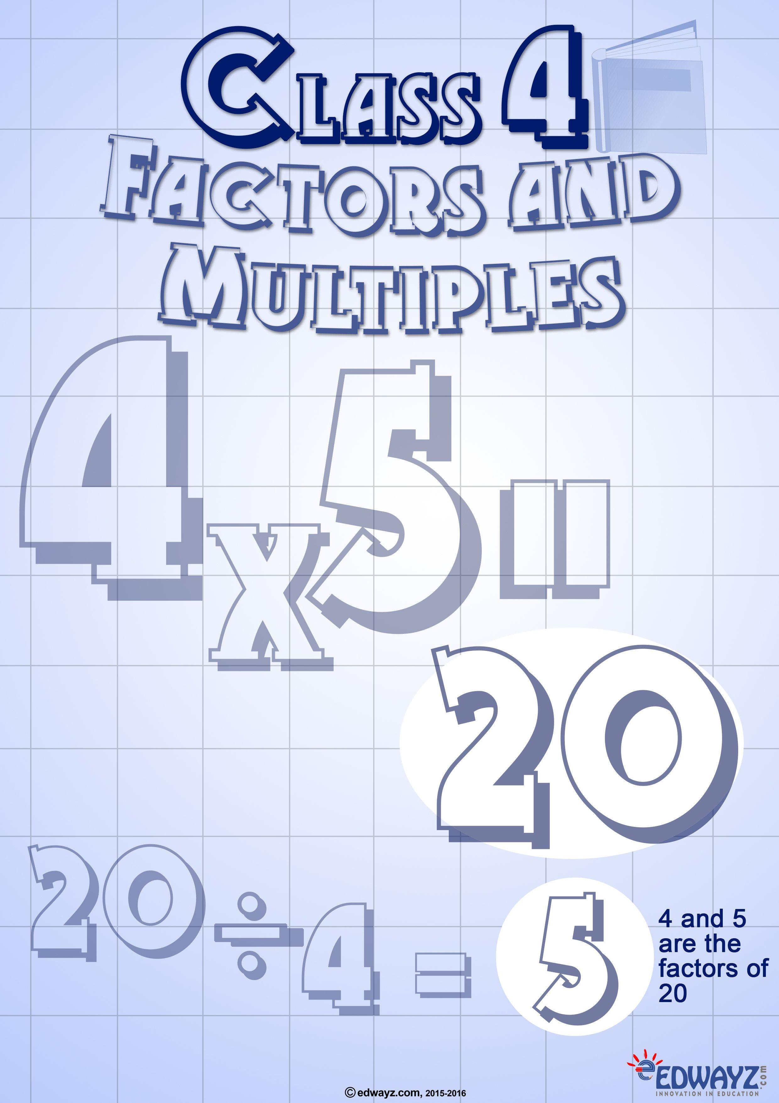Worksheets Factors Amp Multiples Class 4