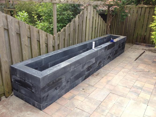 Bloembak van linea palissade strak design en makkelijk te maken deze linia palissade excluton - Deco kleine tuin buiten ...