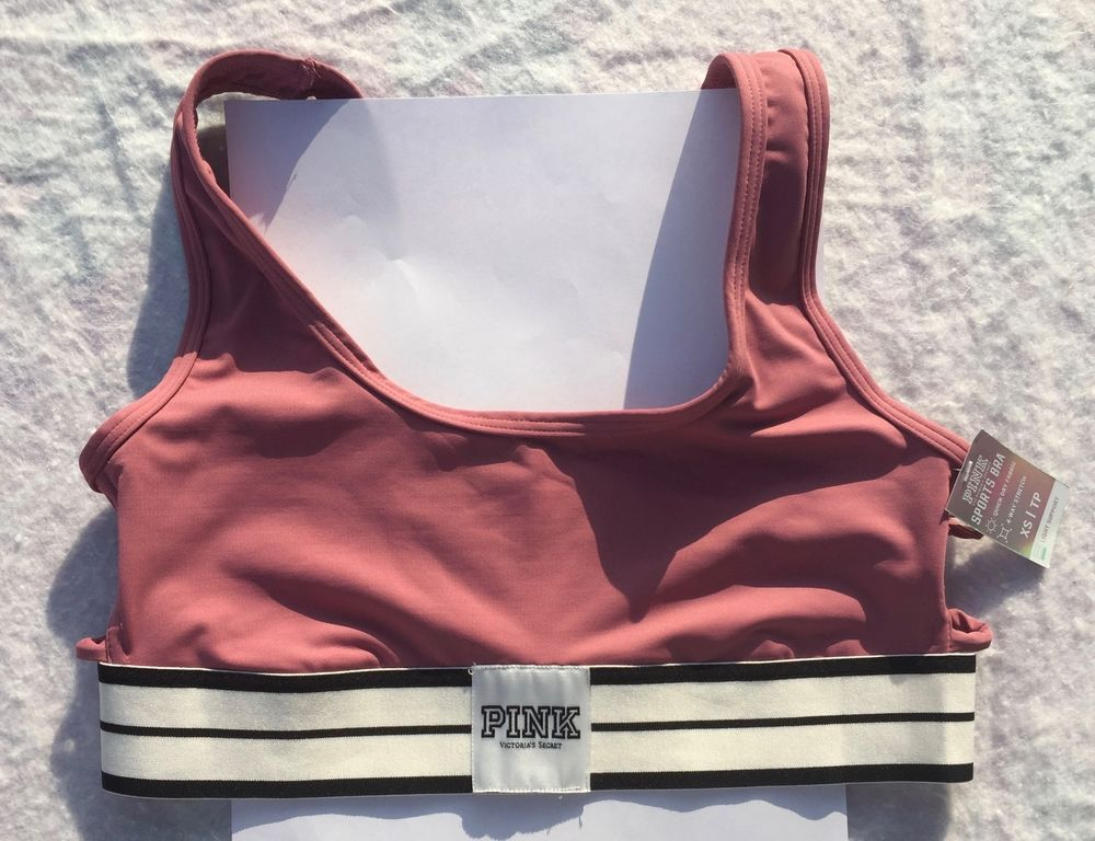 252f78a07f VS VICTORIA S SECRET PINK Ultimate Strappy Side Sports Bra Begonia NWT XS-S-M   VictoriasSecret