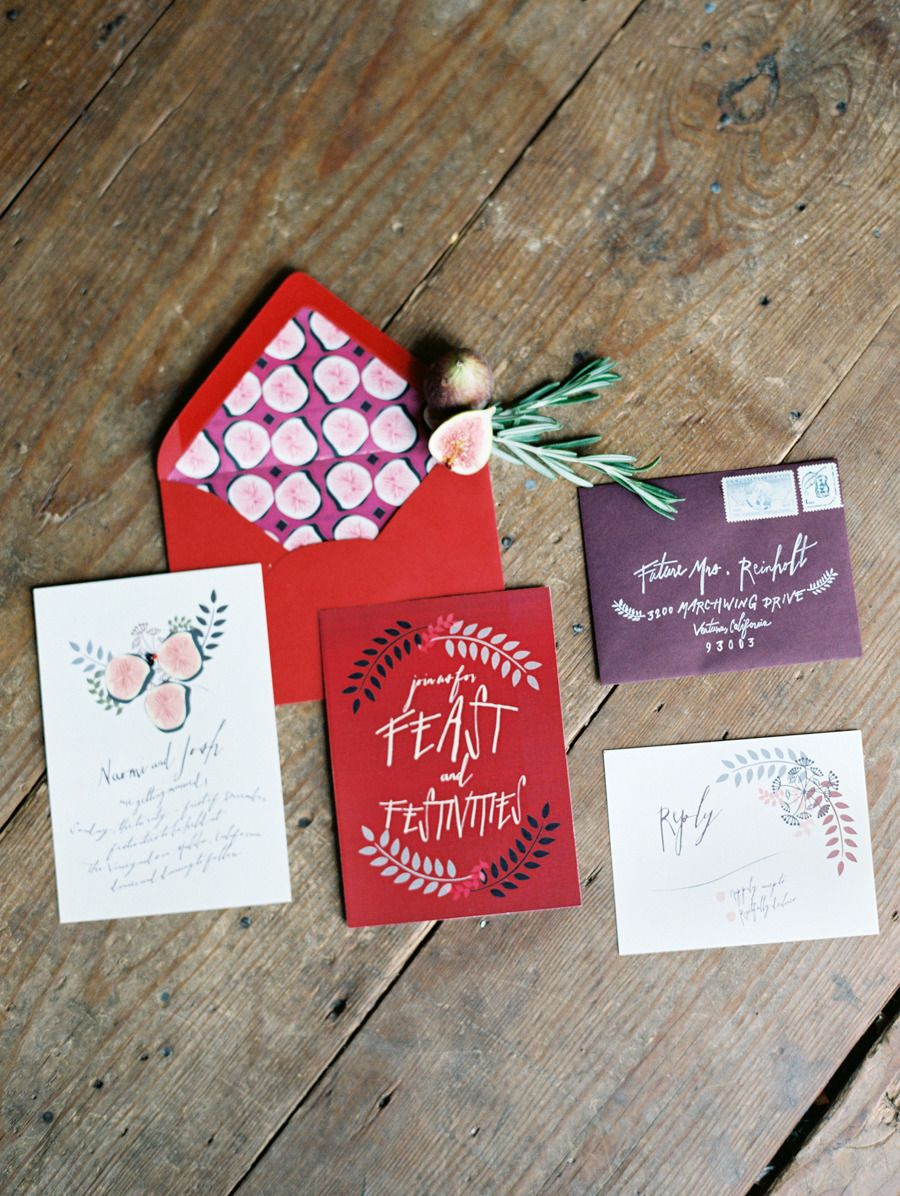 Crimson-Inspired Harvest Feast Shoot | Twine, Invitation design and ...