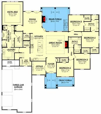Plan 51788hz Stunning 5 Bed Craftsman Home Plan With Bonus Basement House Plans Craftsman House Plans House Plans One Story
