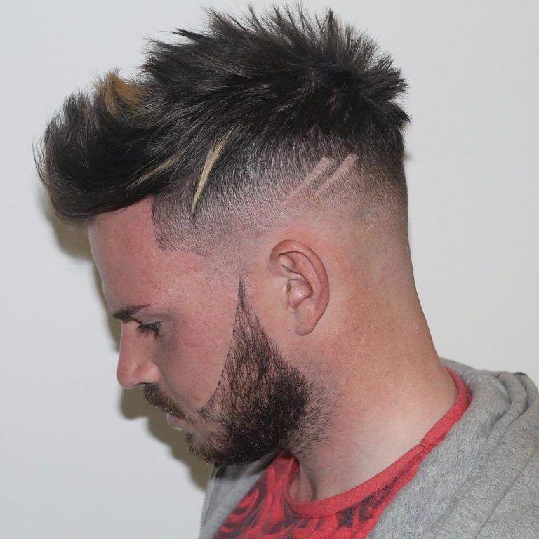 M13ky Short Spiky Quiff Haircut For Men Hairstylesformen Cholovichi Strizhki Strizhki