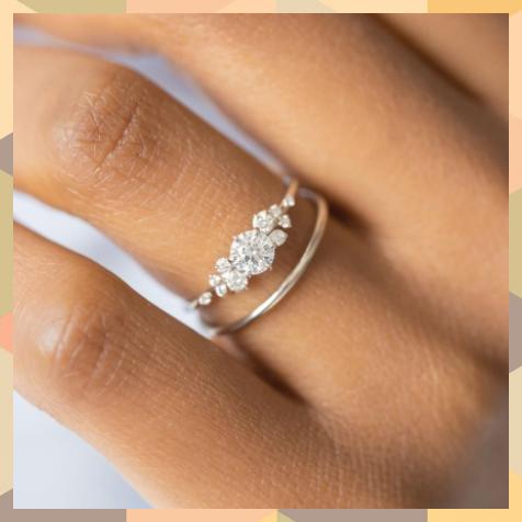 Diamond Snowdrift Ring Made To Order Diamond Madetoorder Ring Snowdrift In 2020 Wedding Rings Simple Wedding Rings Vintage Wedding Rings Unique