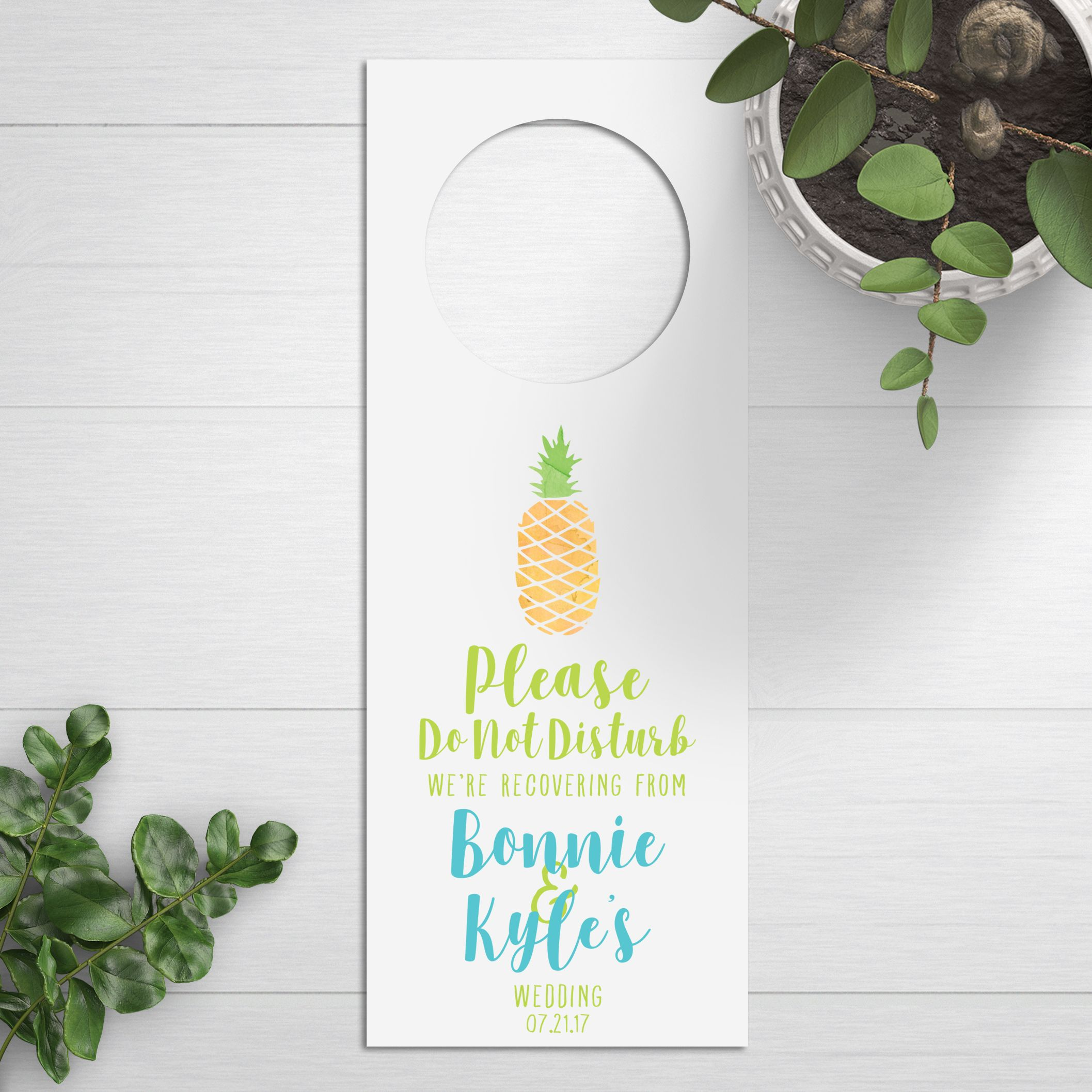 Wedding Do Not Disturb Signs, Unique Wedding Favors, Pineapple ...