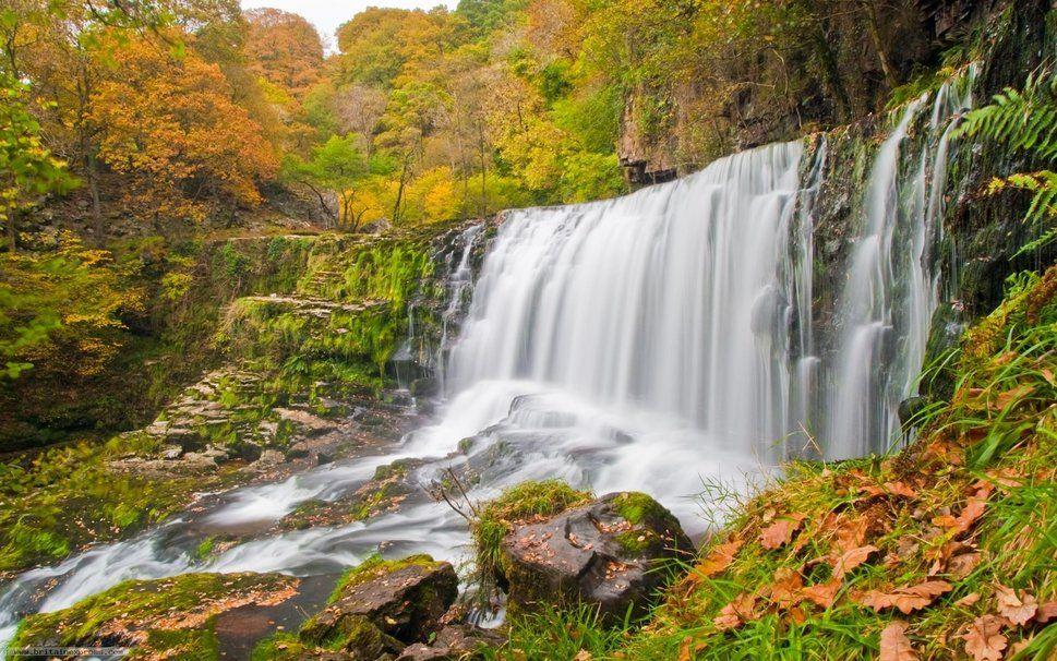 foto de automne fond d'écran chute d'eau grand écran fonds d