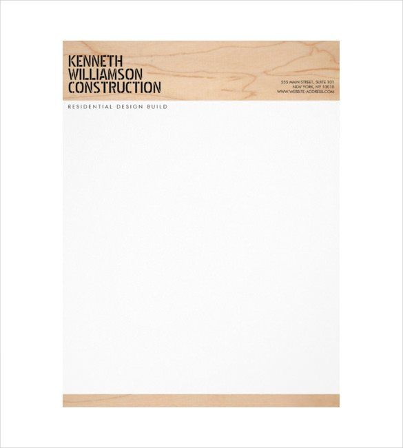 Letterhead Format For Construction Company 10 Construction