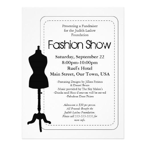 Fashion Show Flyer Zazzle Com Fashion Show Invitation Fashion Show Flyer