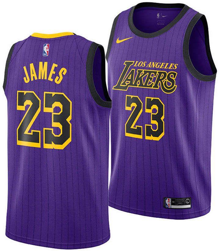 Nike Lebron James Los Angeles Lakers City Edition Swingman