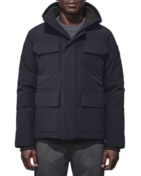 CANADA GOOSE MAITLAND HOODED PARKA, BLUE BRUSHED CAMO. #canadagoose #cloth #