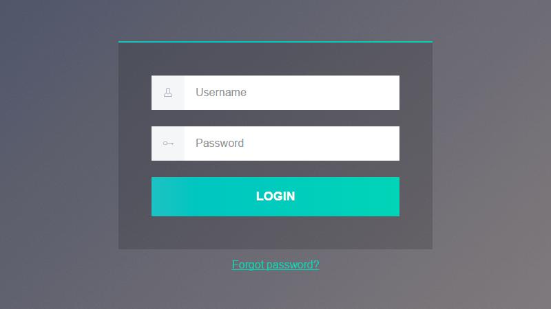 Login Form Web design, Login form, App design