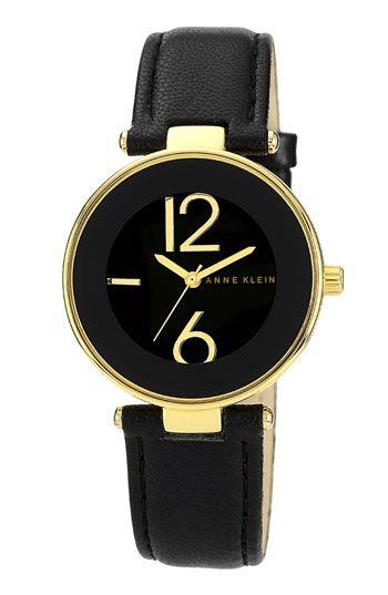 Best Friend: Anne Klein Round Leather Strap Watch #Nordstrom #Holiday