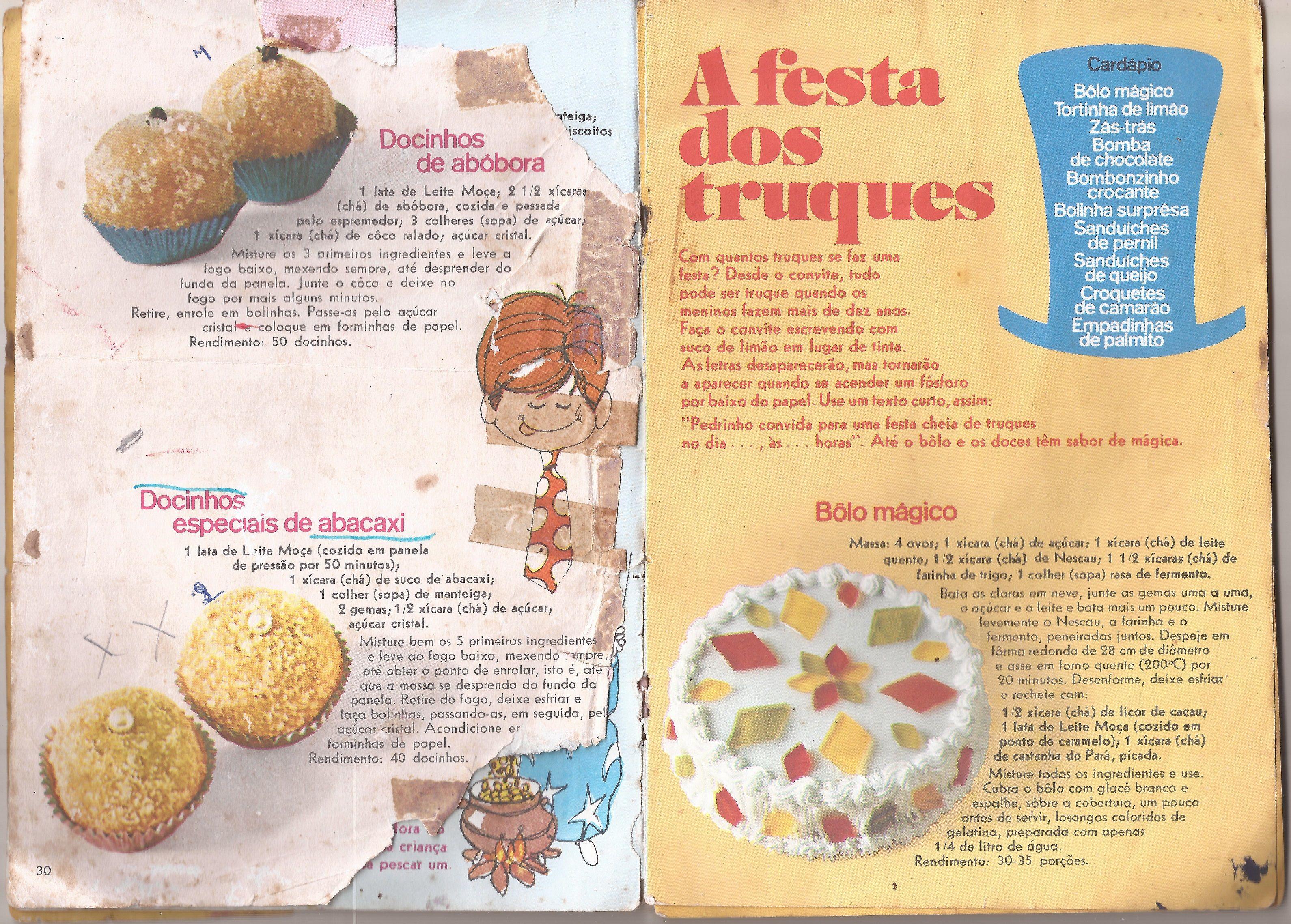 Leite Moca Nestle Livro Antigo De Receitas De Doces Para