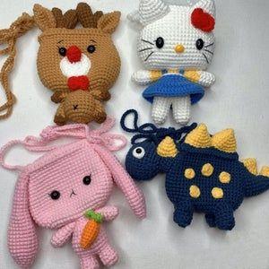 Crochet priness crossbody bags,Amigurumi priness b