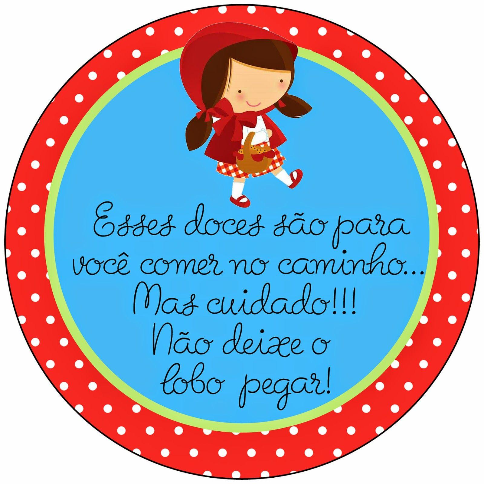 Kit Papelaria Digital Chapeuzinho Vermelho Festa Infantil