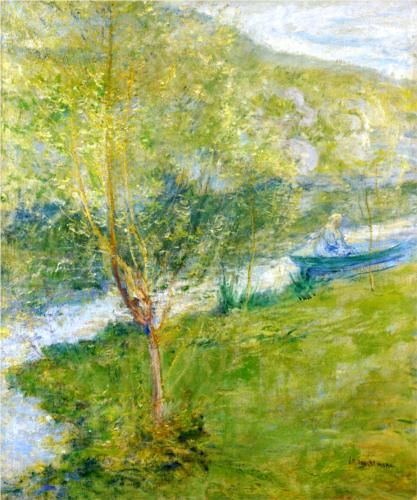 2ae4b04bf6859 Spring - John Henry Twachtman Oil Painting Reproductions