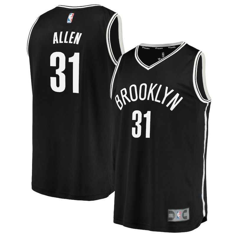 1b7678a5b34 Brooklyn Nets Jarrett Allen Fanatics Branded Youth Fast Break Player Jersey  - Icon Edition - Black