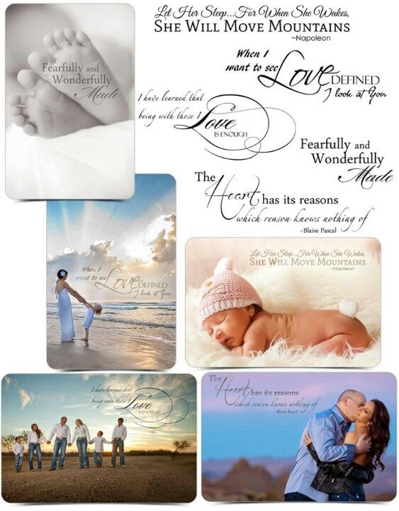 Wordart for newborn albums
