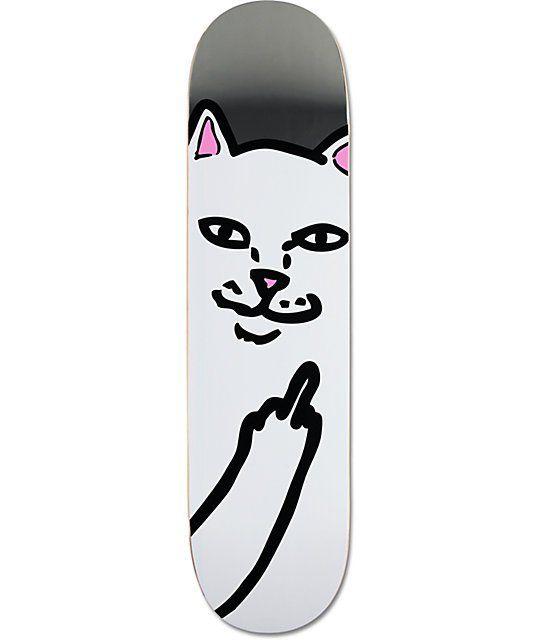 Ripndip Lord Nermal Silver 8 0 Skateboard Deck Con Imagenes