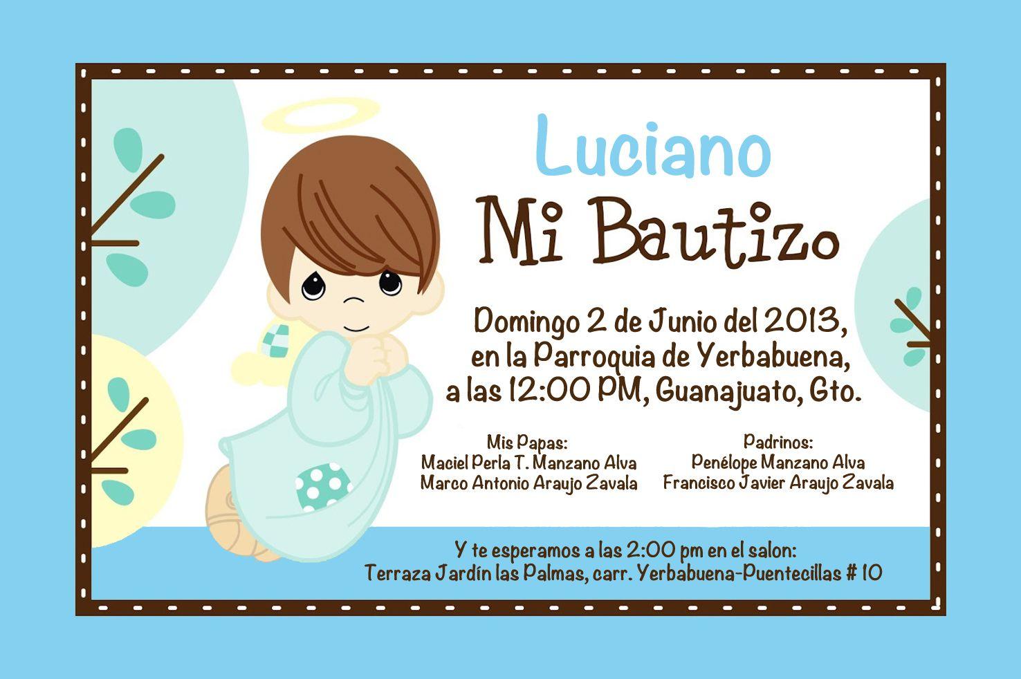 invitacion bautizo luciano  by jenny