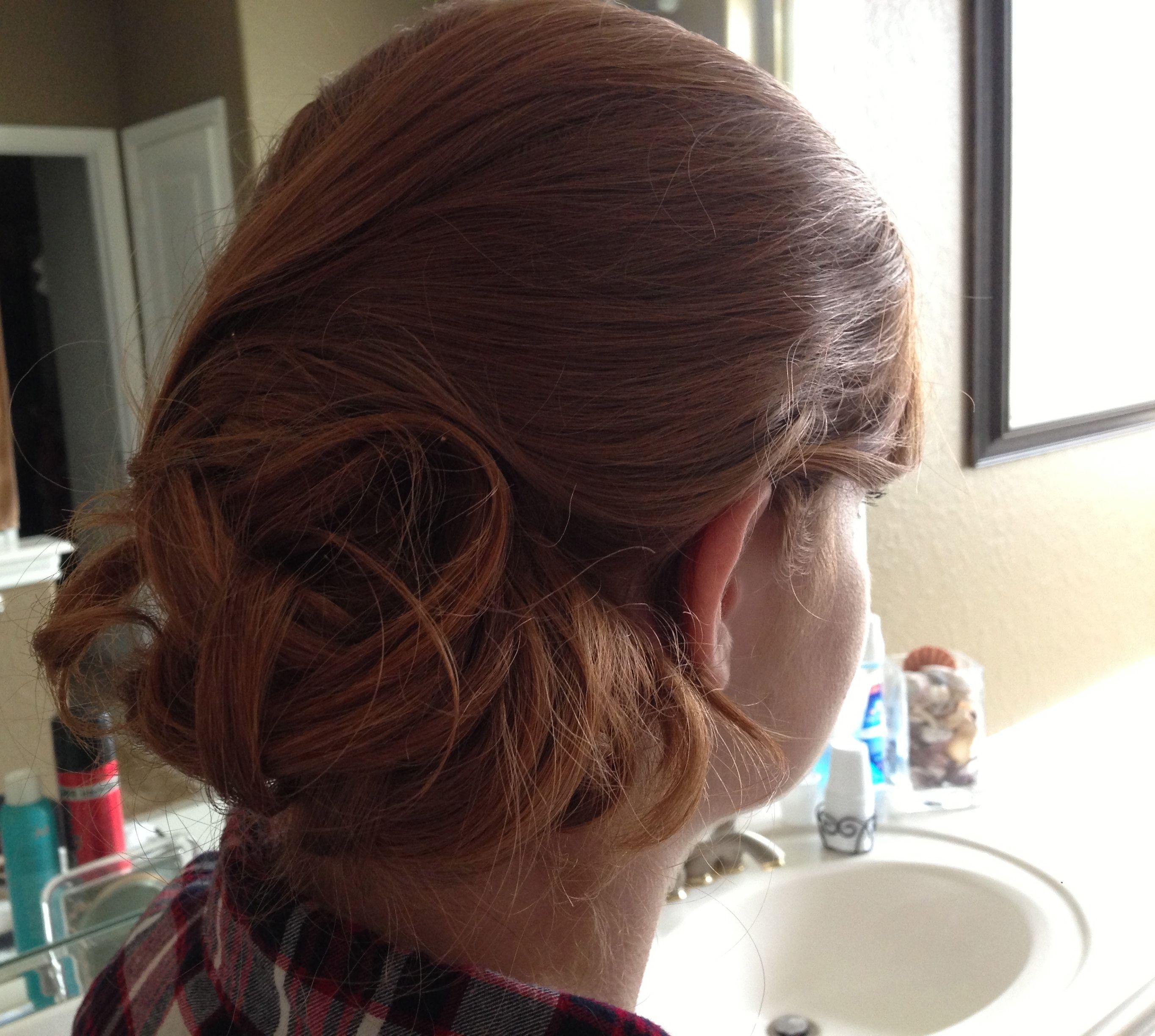 Homecoming hair...messy bun