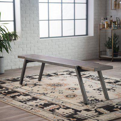 Peachy Belham Living Magnus Metal Frame Dining Bench En 2019 Alphanode Cool Chair Designs And Ideas Alphanodeonline