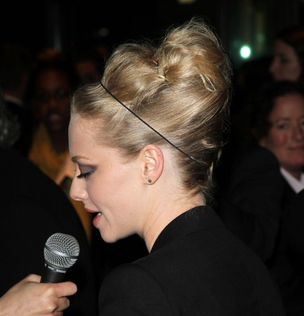 Amanda Seyfried's high updo hairstyle at the Tribeca Film Festival