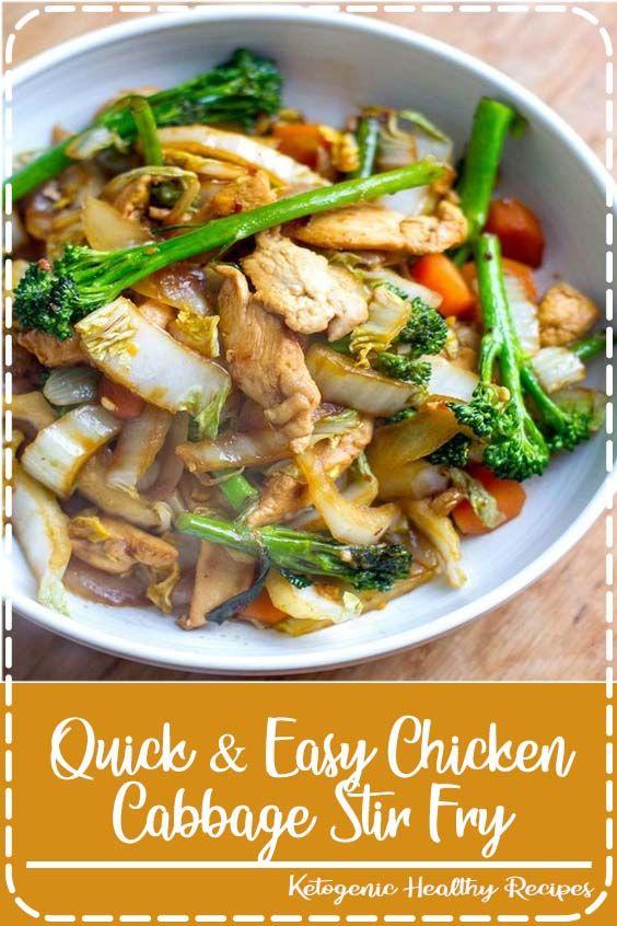 Quick & Easy Chicken Cabbage Stir Fry #cabbagestirfry