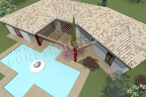 plan de maison moderne modele COCOSY vue aerienne maison albert - Photos De Maison Moderne