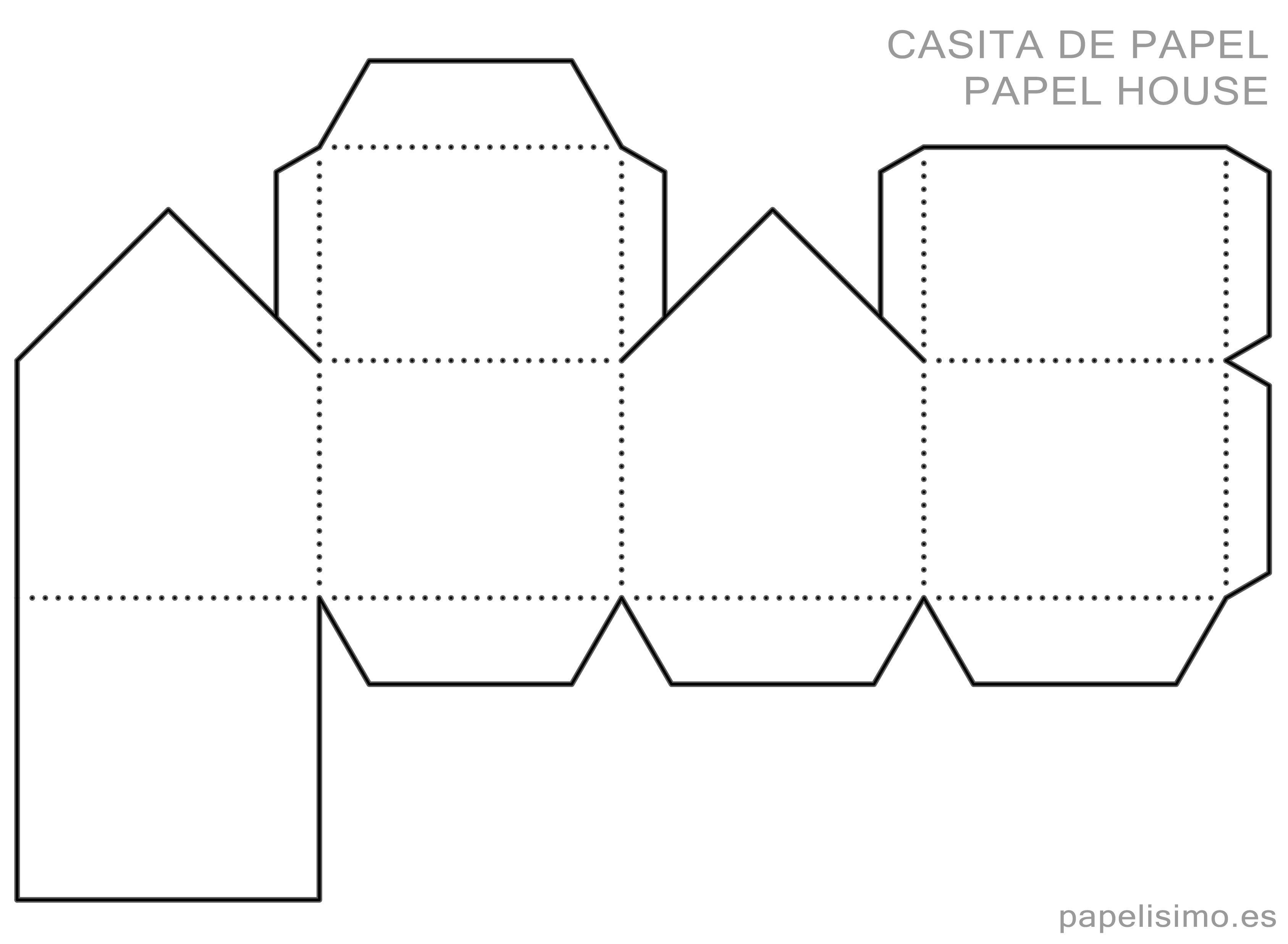 Plantilla casa de papel Paper house Printable | accesorios del hogar ...