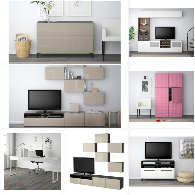 Einrichtungsideen Ikea Besta Möbel Wohnwand Pinterest