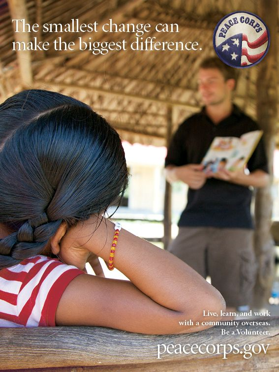 The Smallest Change Can Make The Biggest Difference Education Peace Corps Peace Commemoration