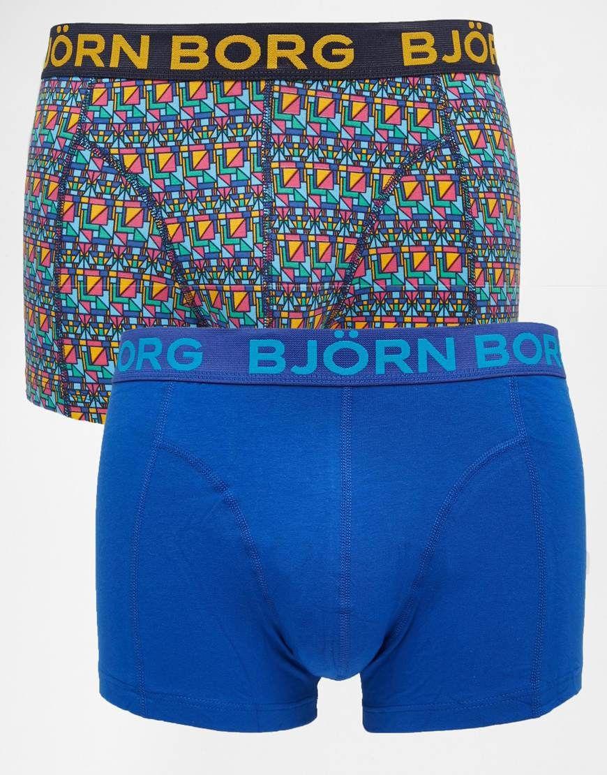 Unterhose von Björn Borg elastischer Jersey Logoschriftzug am Bund figurbetontes Design Maschinenwäsche 95% Baumwolle, 5% Elastan Zweierset