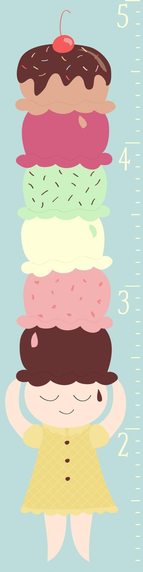 Ice Cream Growth Chart 5000 Via Etsy Walls Not Bare