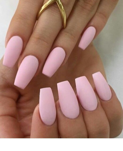 Pins For Ladies Matte Pink Nails Pink Nails Cute Pink Nails