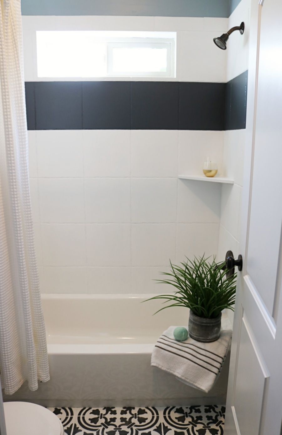 Painting Tiles And Other Great Tile Updates Shower Tile Designs Painting Bathroom Tiles Painting Shower
