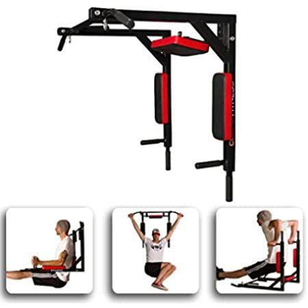 onetwofit multifunctional wall mounted pull up bar set