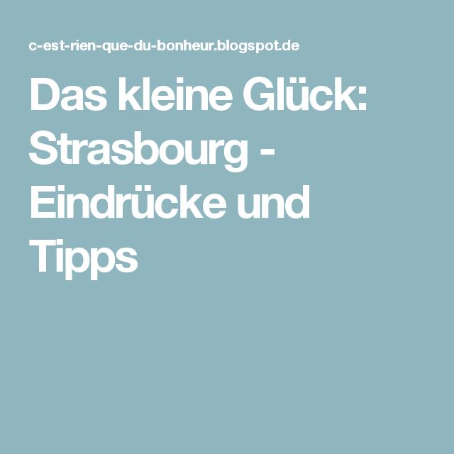 Strasbourg Tipps