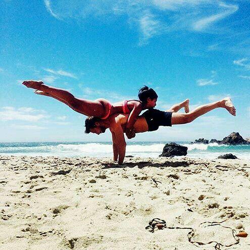 pin9disneygirl9 on workout and yoga  couples yoga