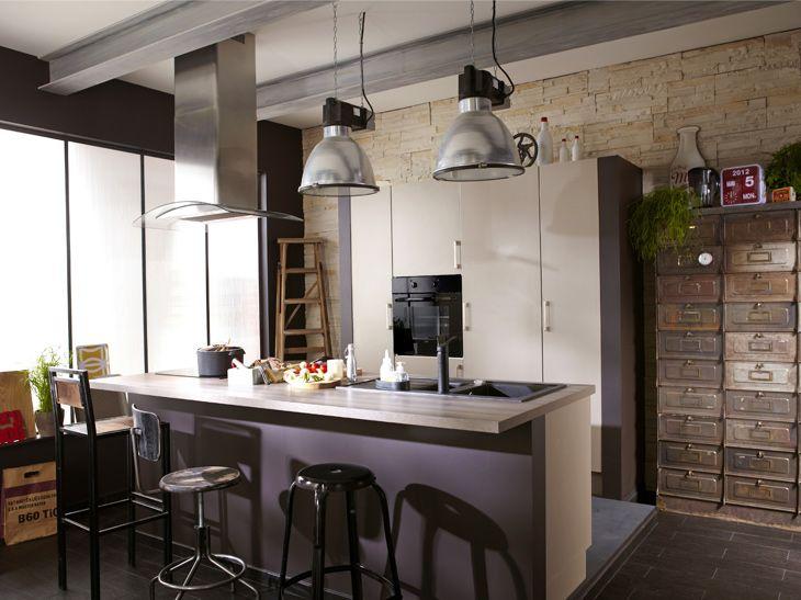 un coin repas sympa dans la cuisine leroy merlin cuisines pinterest. Black Bedroom Furniture Sets. Home Design Ideas
