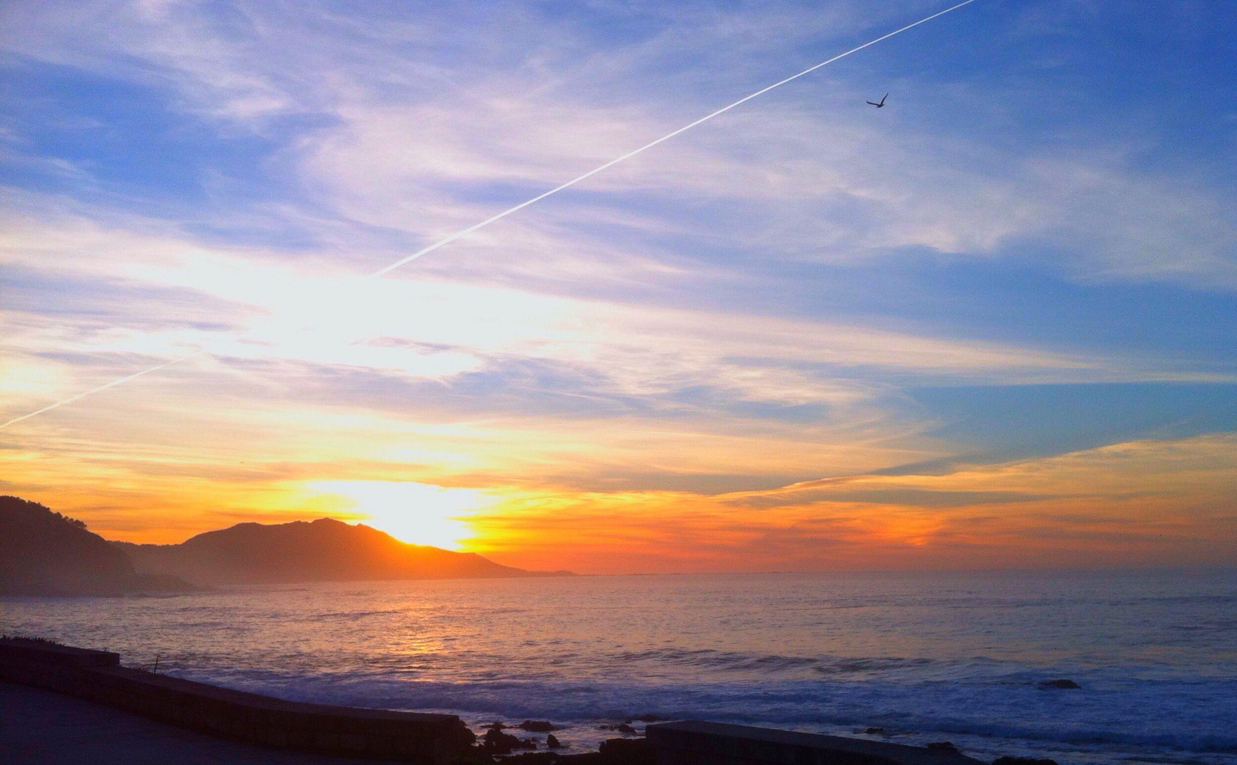 Posta de sol dende o Paradorde Baiona. 4/1/13
