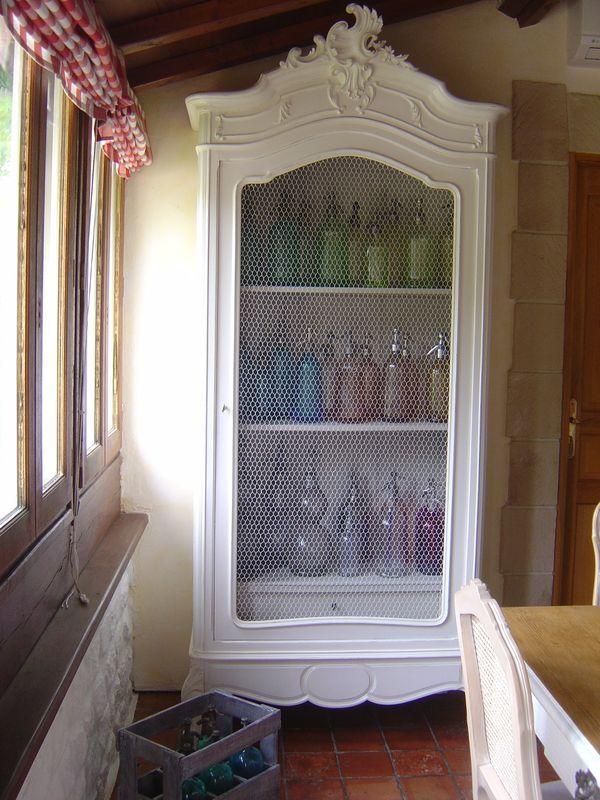 armoire rocaille avant apres cottage et patine le. Black Bedroom Furniture Sets. Home Design Ideas