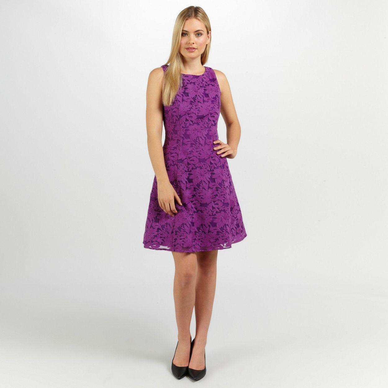 Ariella London Purple tilly lace short dress- at Debenhams.ie ...