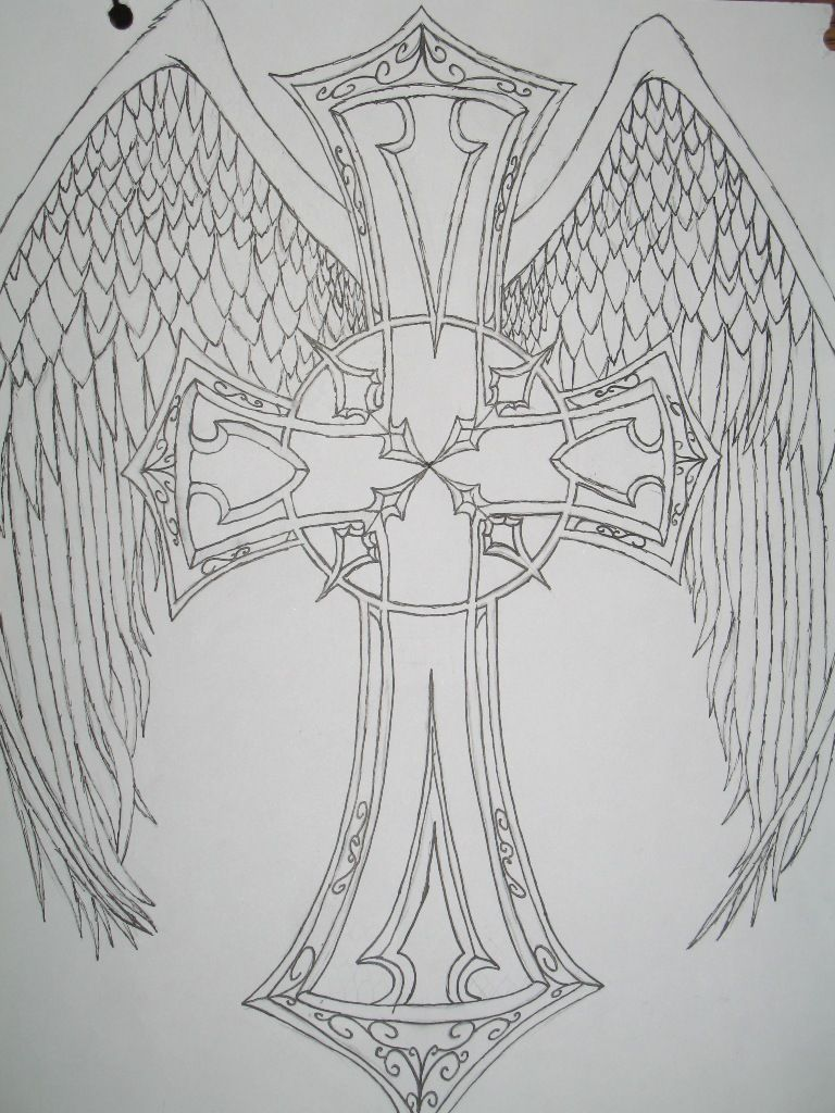 tattoo designs angels free download cross with angel wings tattoo designs ideas design 5168. Black Bedroom Furniture Sets. Home Design Ideas