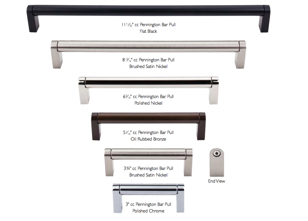 Pin On Designs With Pennington Bar Pulls What size bar pulls for kitchen cabinets