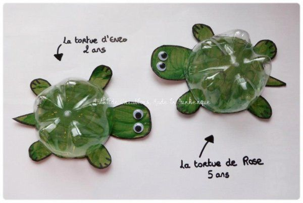 Recycling basteln pet flaschen  DIY recyclage créatif: Des tortues | Tortues | Pinterest | Recycling ...