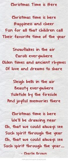 Snoopys Christmas Lyrics.Christmas Christmas Christmas Poems Peanuts Christmas
